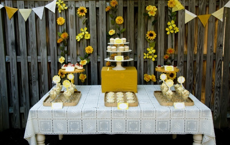 Sunshine Party Dessert Table by Love The Day