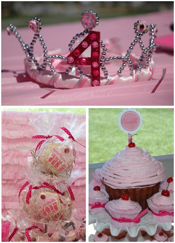 Pink Cupcake Pinkalicious Party with Love The Day printable.