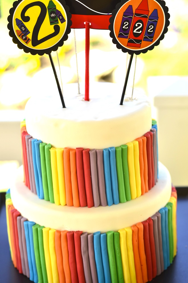 Crayon Birthday Party by Love The Day
