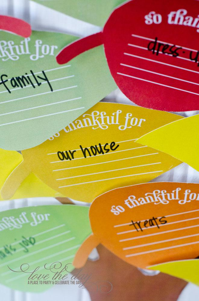 FREE Thanksgiving Thankful Tree Printable by Love The Day
