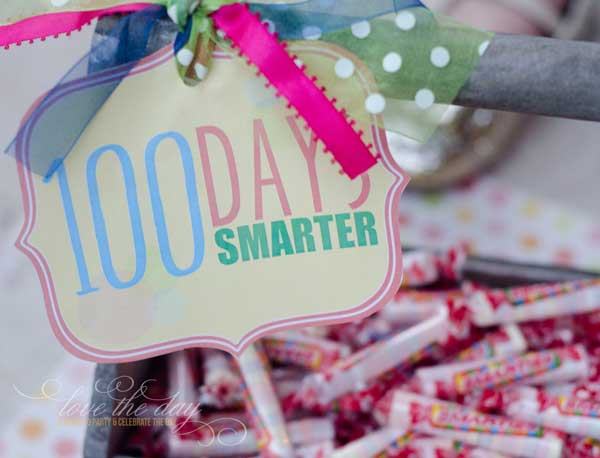 100 Days Of School FREE PRINTABLE by Love The Day