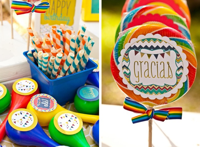 Fiesta Party Favors with printables by Love The Day