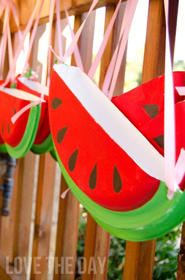 DIY Chinet Watermelon Purse Tutorial by Love The Day