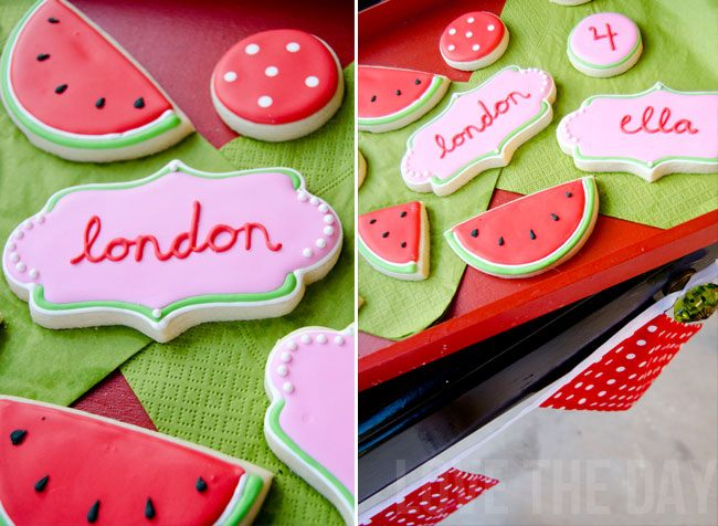 Watermelon Cookies by Glorious Treats
