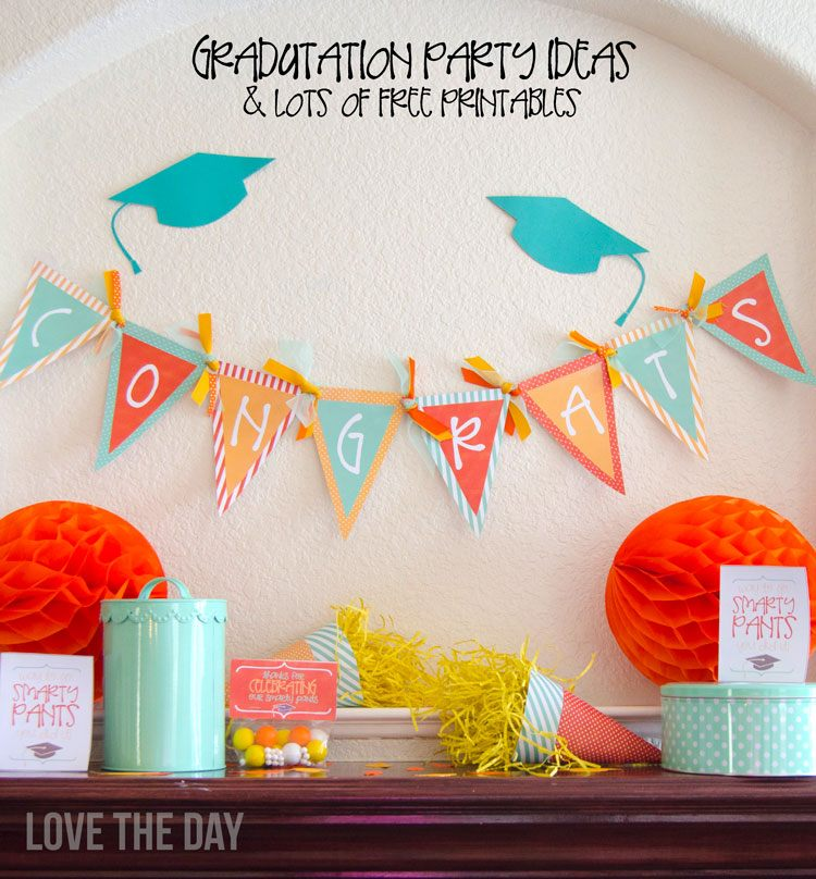 graduation party ideas u0026 free printables by love the day - Graduation Party