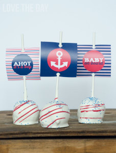 Boy Baby Shower Idea - A Nautical Baby Shower by Love The Day