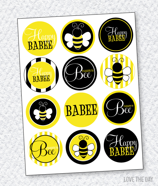 Bee Party PRINTABLES:: BaBEE Party Circles