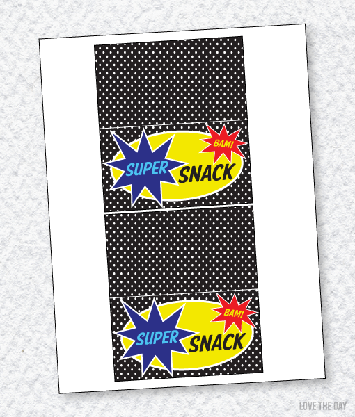 Superhero Party PRINTABLES:: Fold-Over Labels