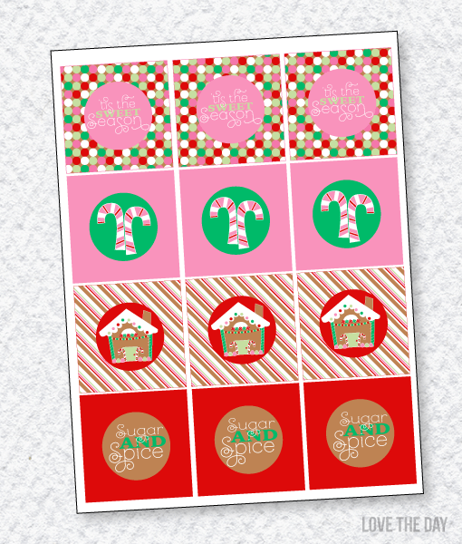 Gingerbread Party PRINTABLES: Party Tags