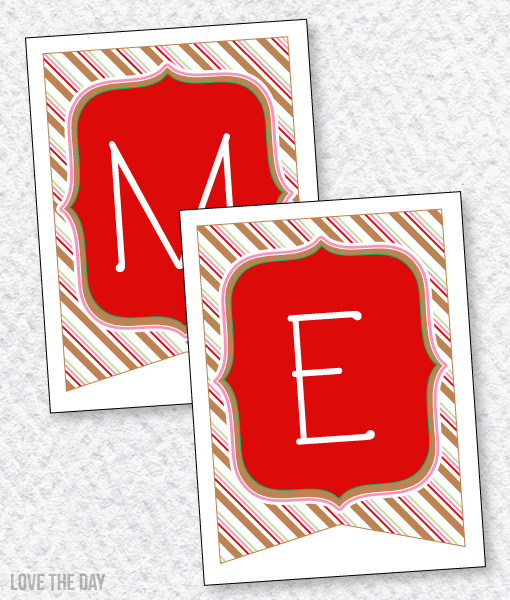 Gingerbread Party PRINTABLES: Merry Christmas Banner