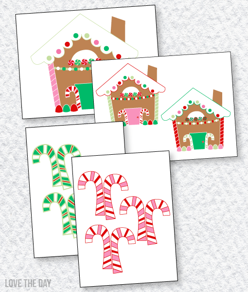 Gingerbread Party PRINTABLES: Decals