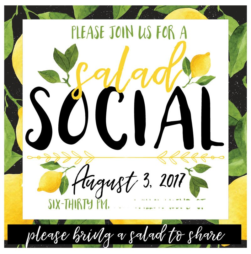 How to host a salad social