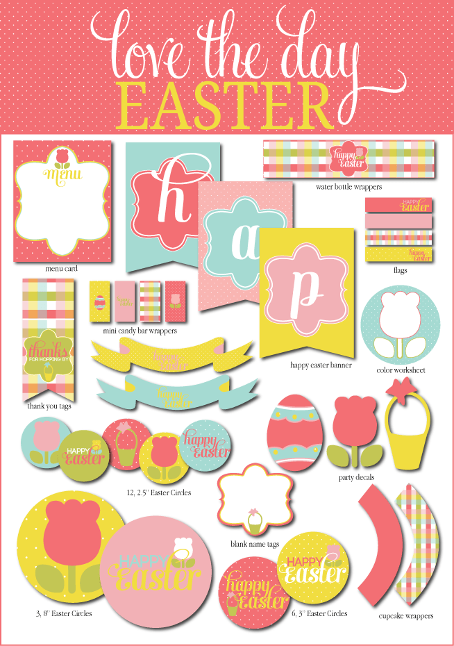 Easter Party Printable Pack by Lindi Haws