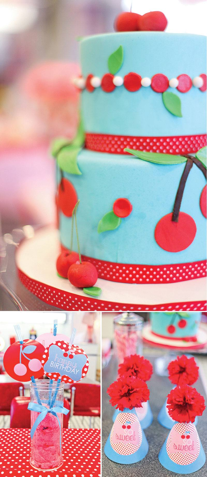 Retro Cherry Party by Lindi Haws of Love The Day