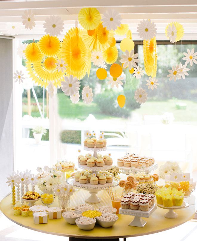 Daisy Party Ideas on Love The Day