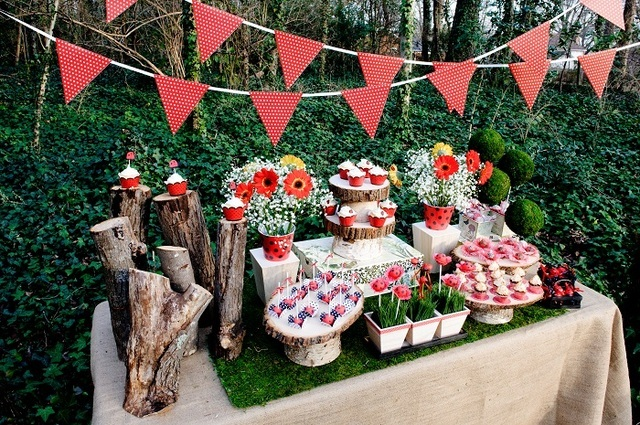 Ladybug Party Ideas:: Dessert Table on Love The Day