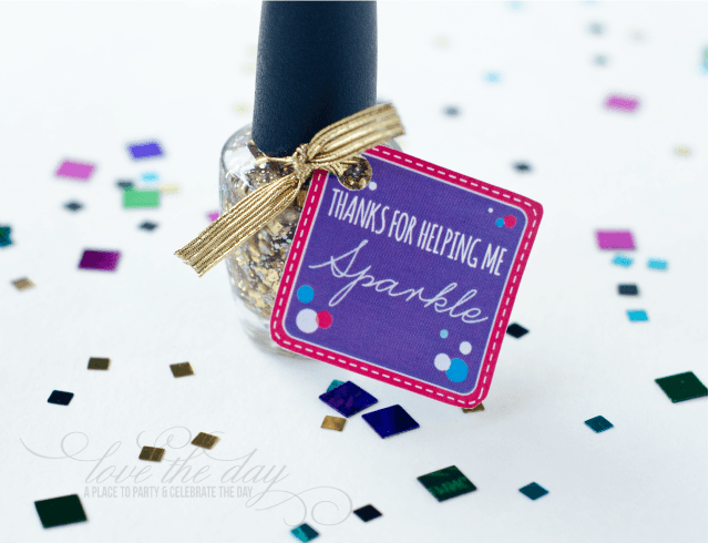 "Teacher appreciation week free printable tags ""thanks for helping me sparkle"""