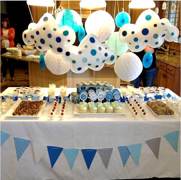 Cloud nine baby shower by love the day