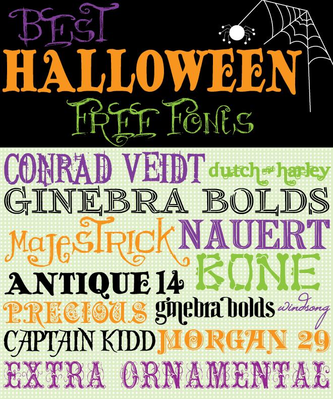 Best Halloween Free Fonts