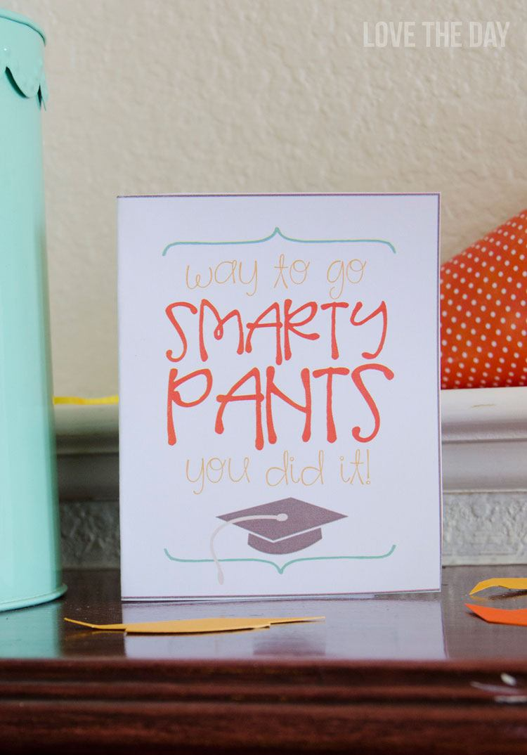 Free Printable Graduation Card by Love The Day