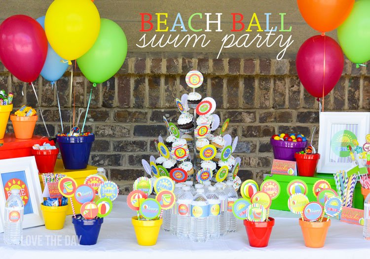 Beach Birthday Party Ideas on Love The Day