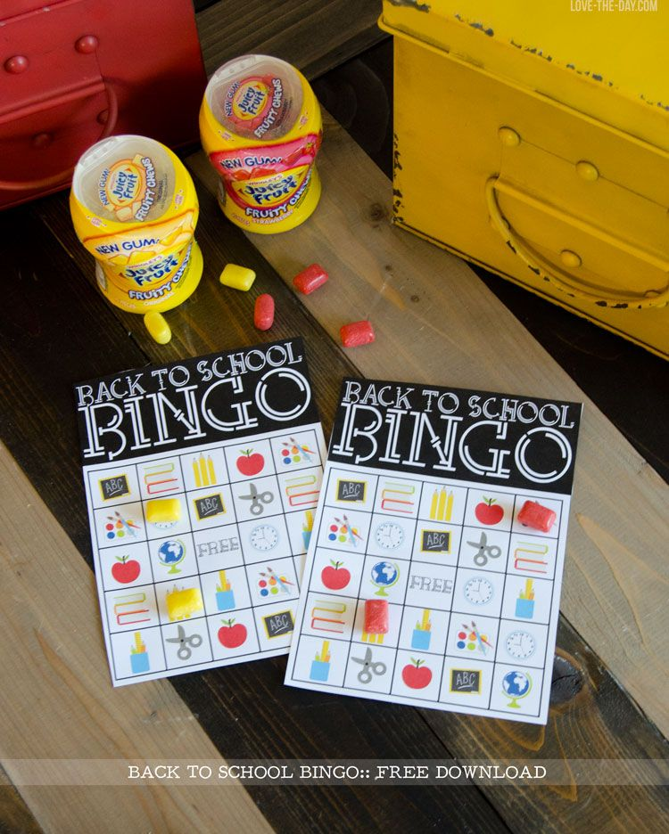 Back To School Bingo FREE Printable by Love The Day
