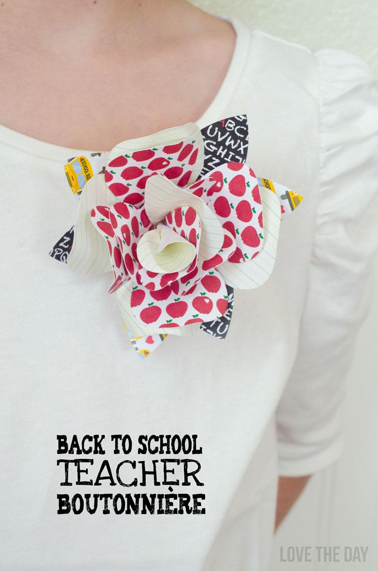 Back To School Crafts:: Teacher Boutonni�res by Love The Day