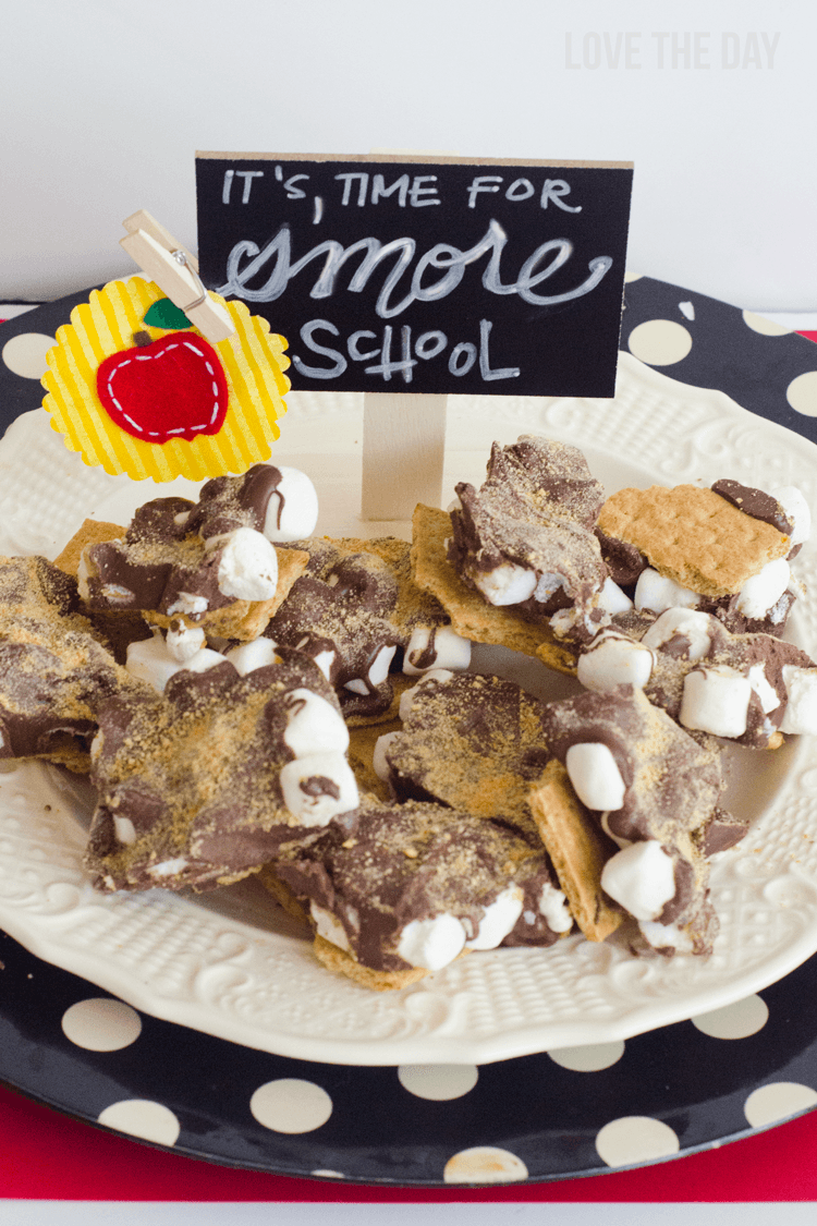 Back to school indoor s'more bark recipe
