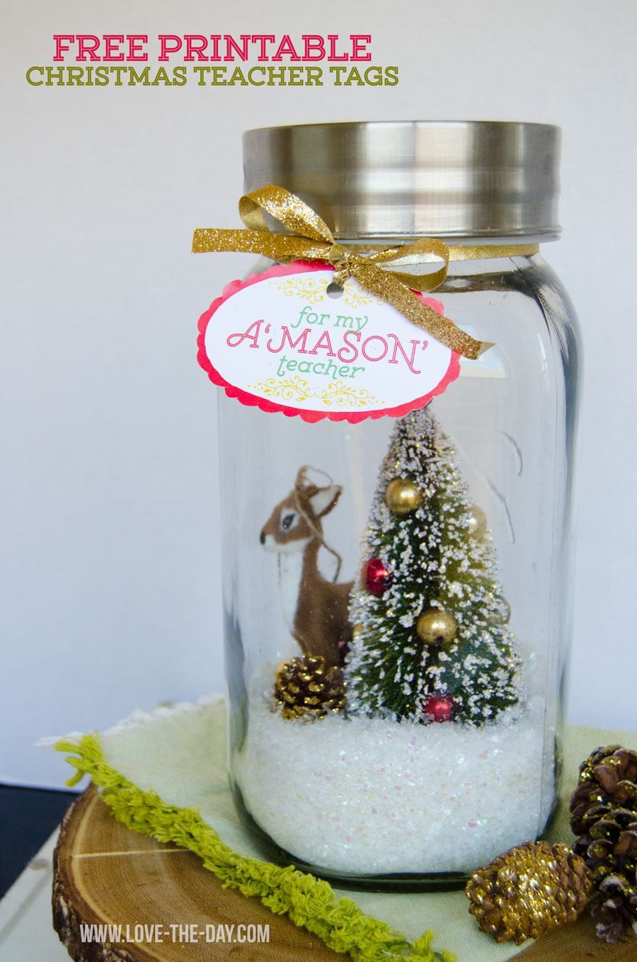 Christmas Teacher Gift Idea & FREE Printable by Love The Day