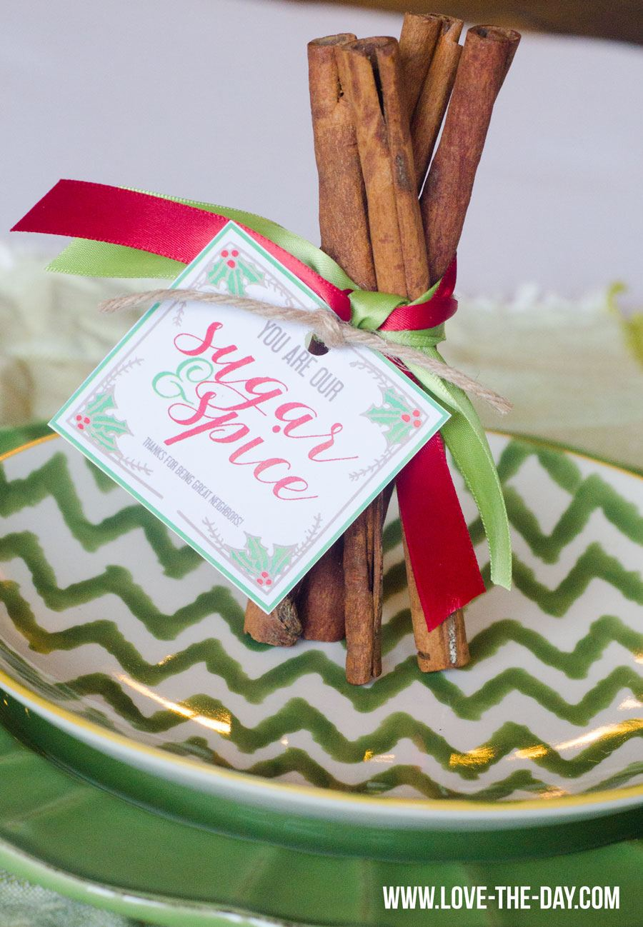 Free sugar & spice neighbor gift tags