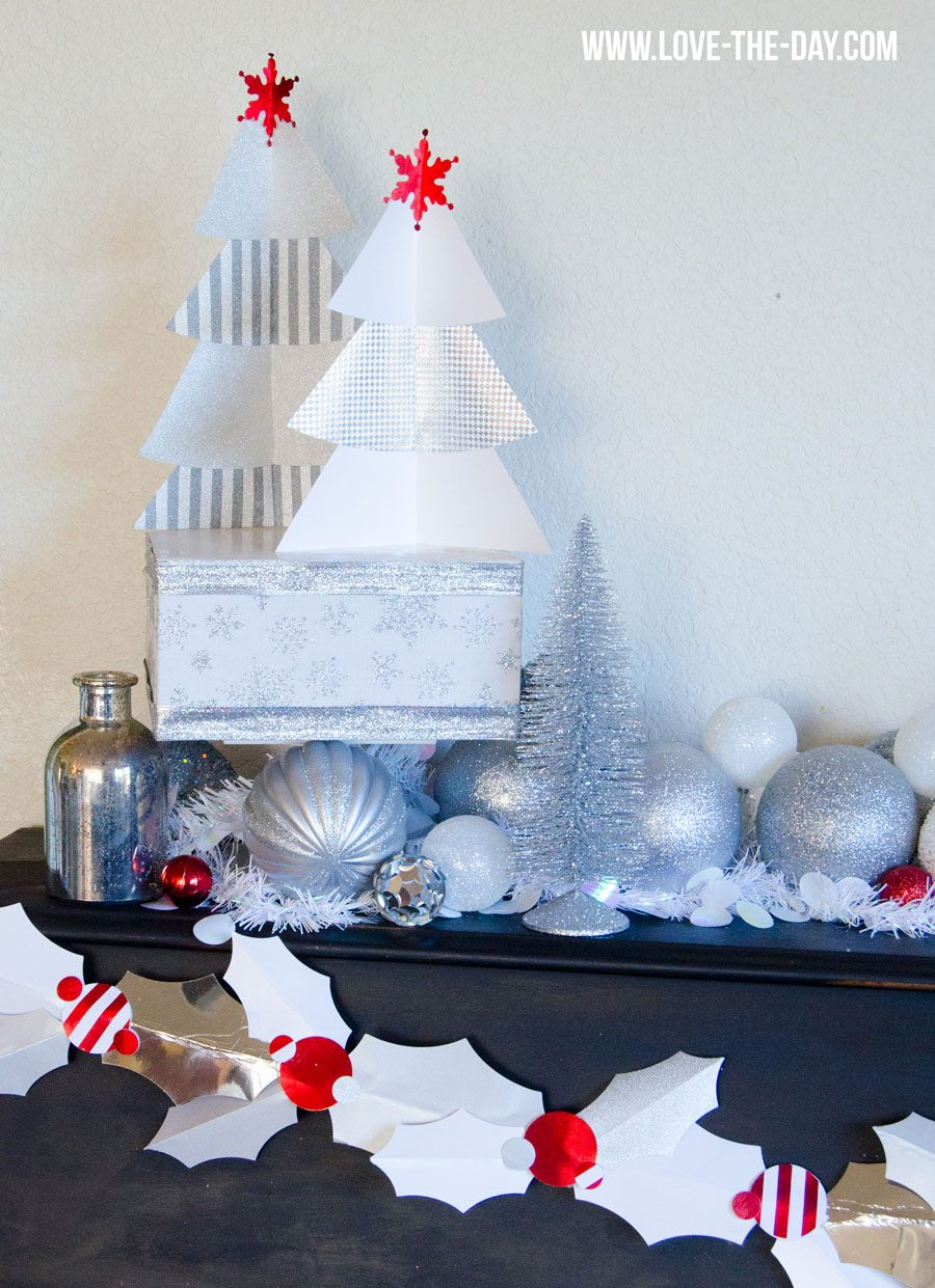 DIY Paper Christmas Trees by Love The Day