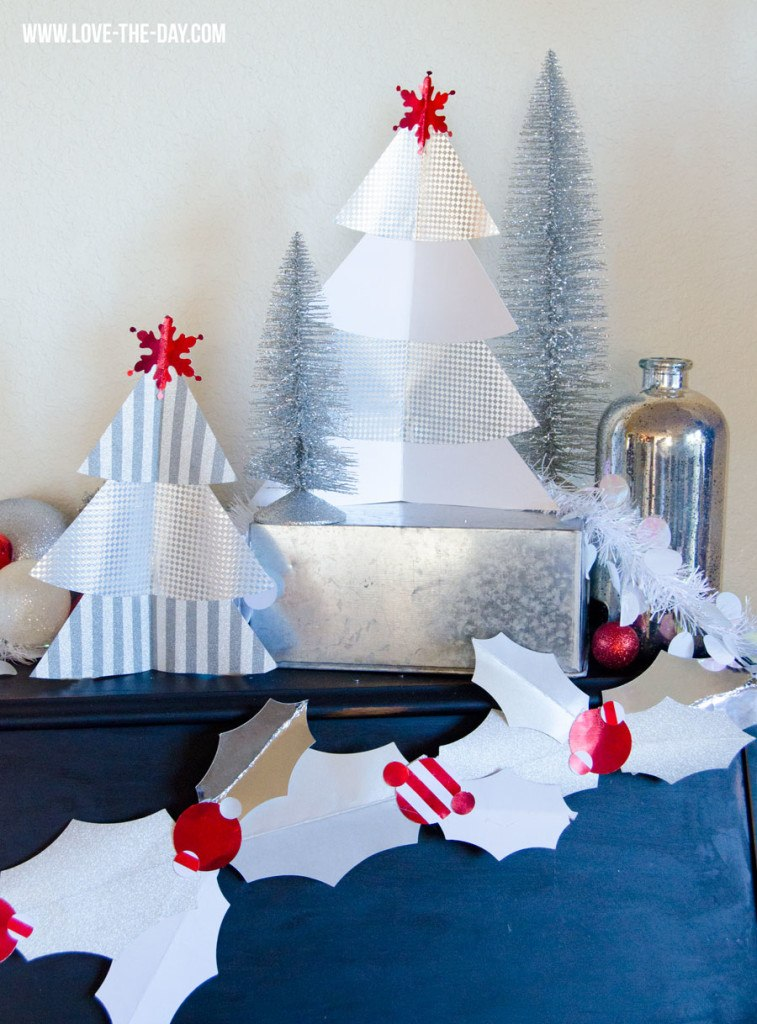 Diy paper christmas tree by love the day