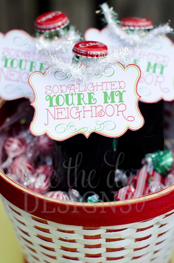 Soda lighted printable christmas tag:: instant download
