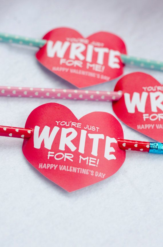 You're just write for me pencil valentine printable (instant download)