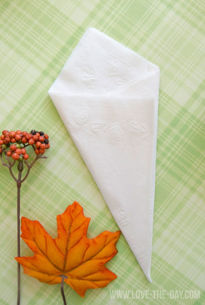 Paper Napkin Folding Idea with Chinet by Love The Day