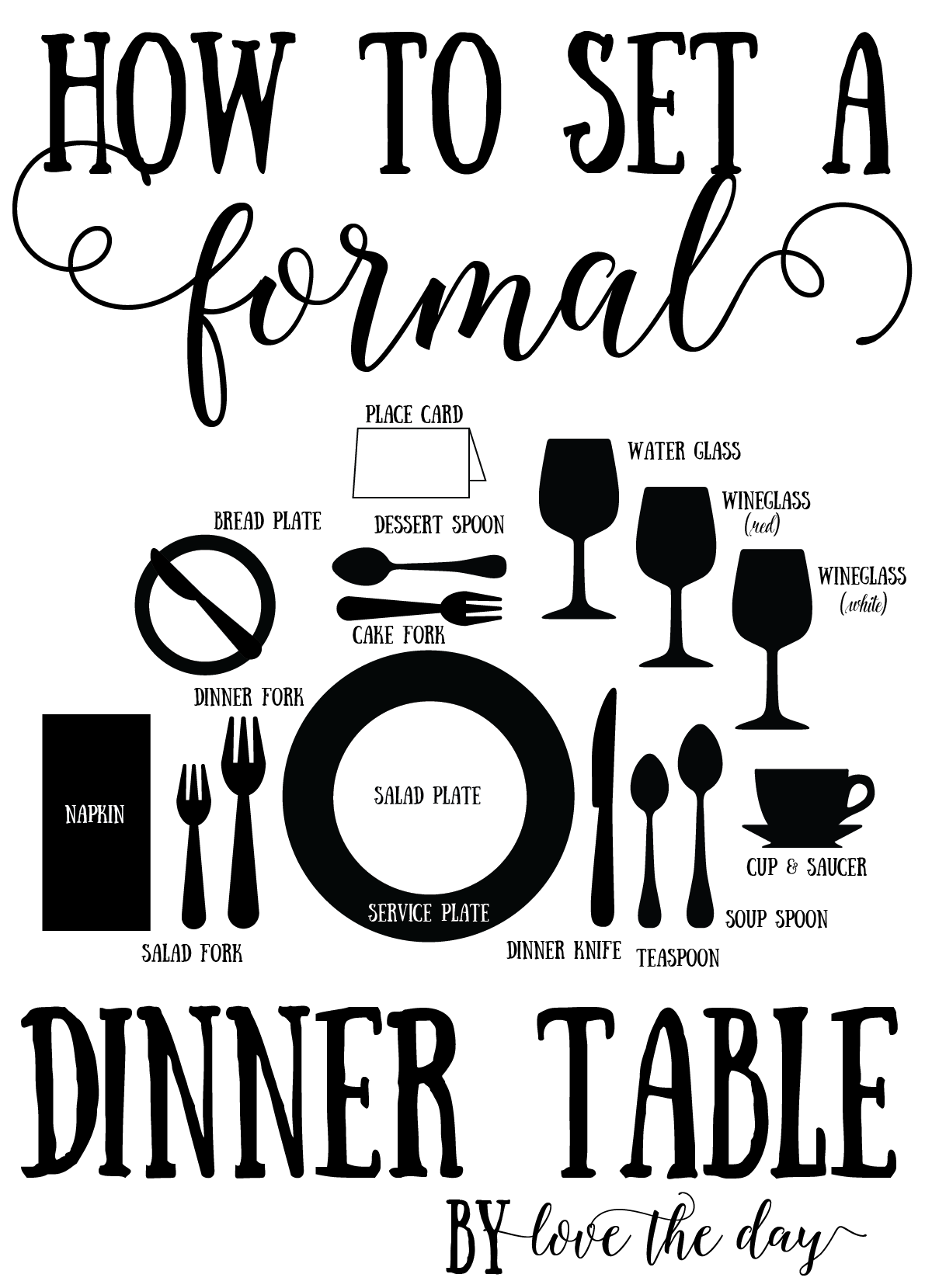 Proper Place Setting Tutorials  sc 1 st  Love The Day & Proper Place Setting Tutorials - Love The Day