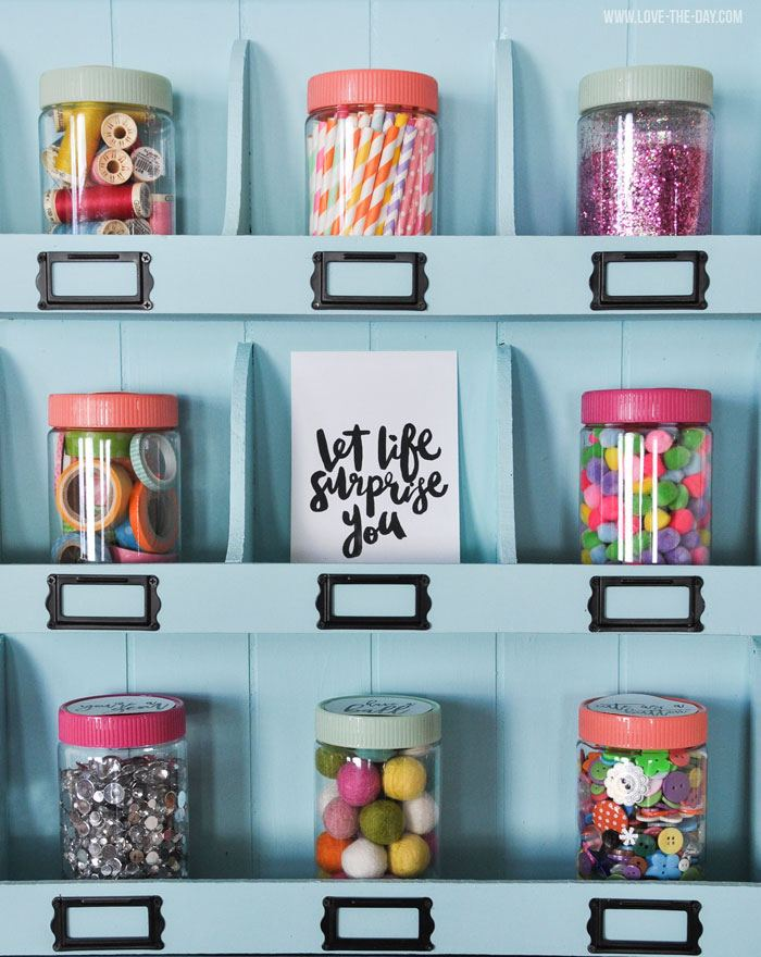 Clever Craft Storage Ideas & a FREE Printable by Love The Day