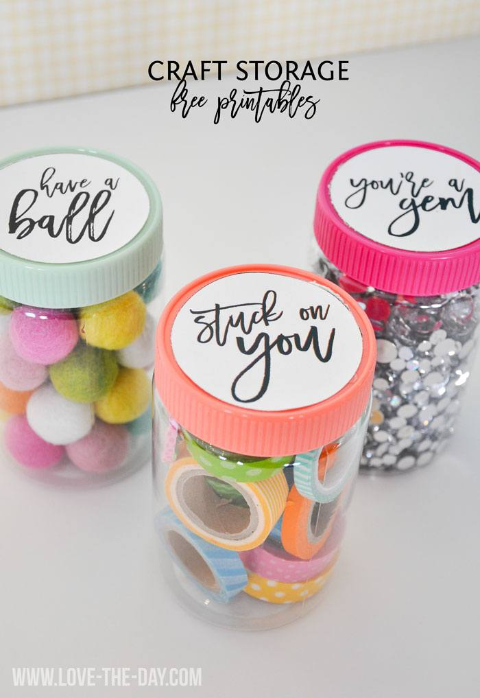 Clever craft storage ideas & a free printable