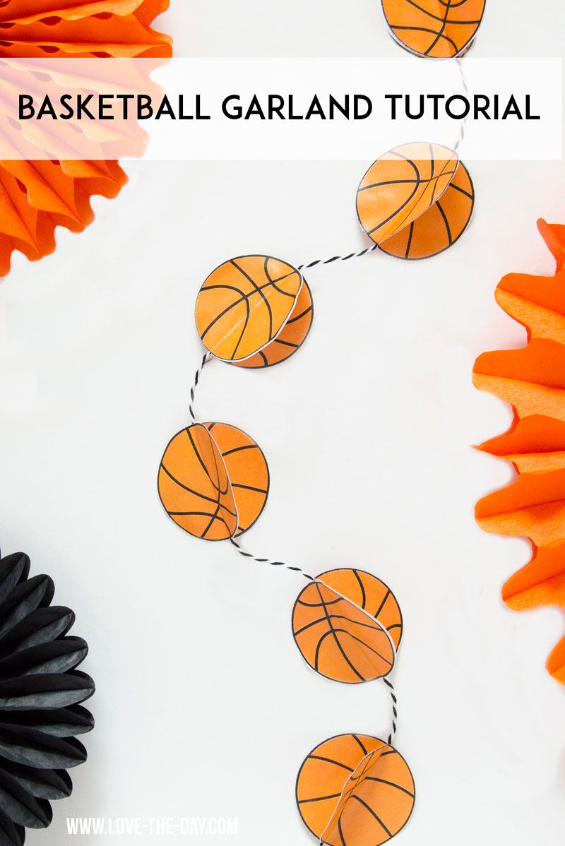 Basketball garland tutorial
