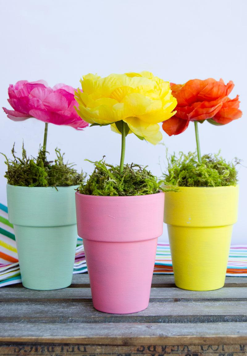 Flower Pot Craft & Centerpiece by Lindi Haws of Love The day