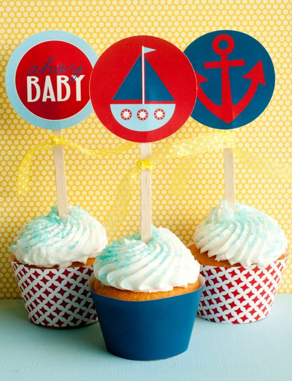 Nautical baby shower ideas & printables