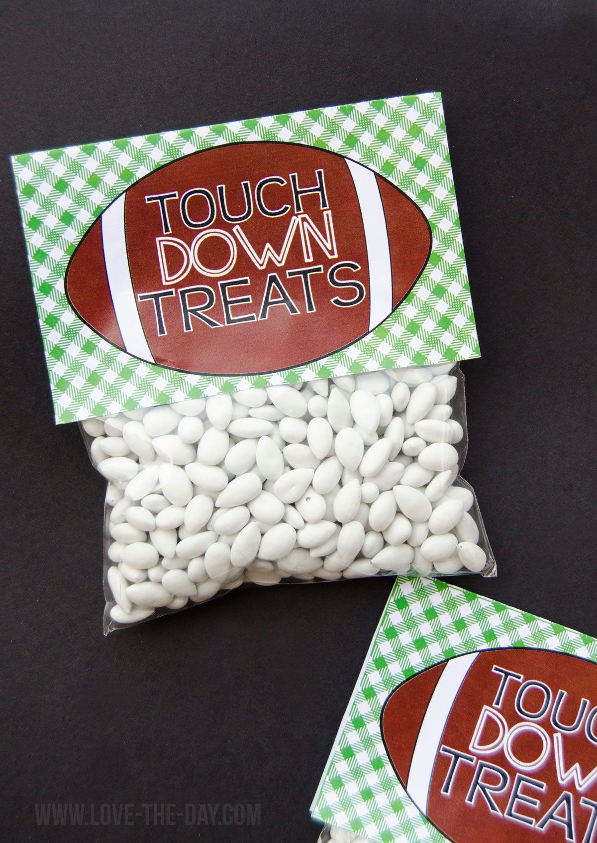 Football party favors free printable