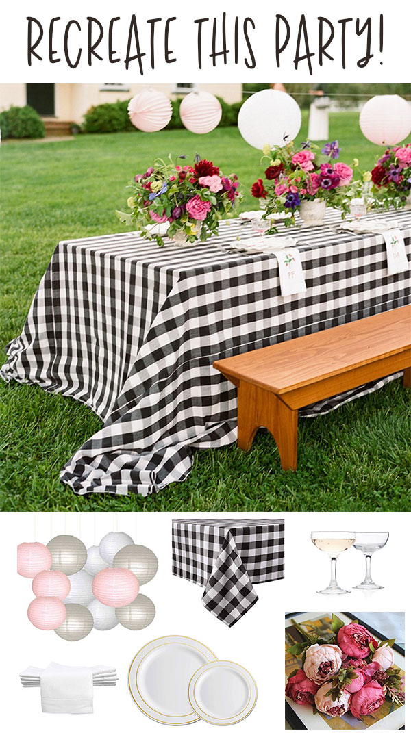 Outdoor Rehearsal Dinner Party Idea on Love The Day