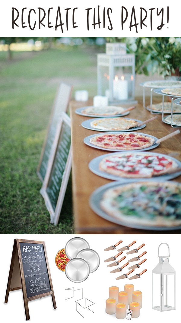Rehearsal Dinner Pizza Party Ideas on Love The Day