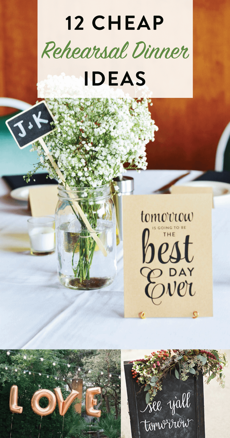 12 cheap inexpensive wedding rehearsal dinner ideas bride on a