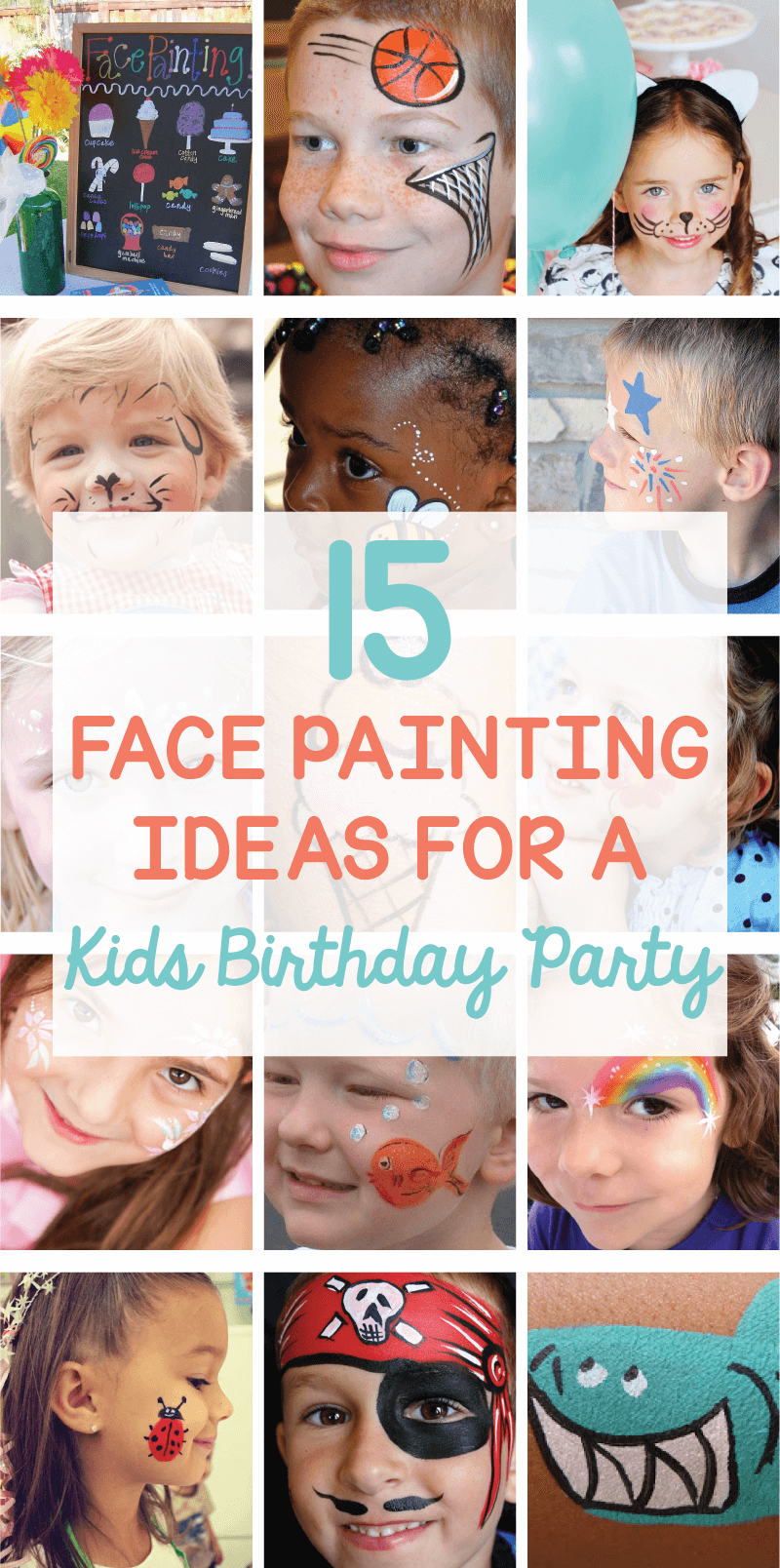Face painting ideas for a kids birthday party