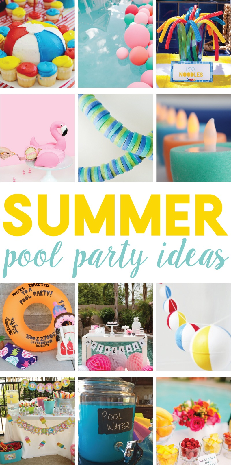 Summer pool party ideas :: diy pool party water bottles