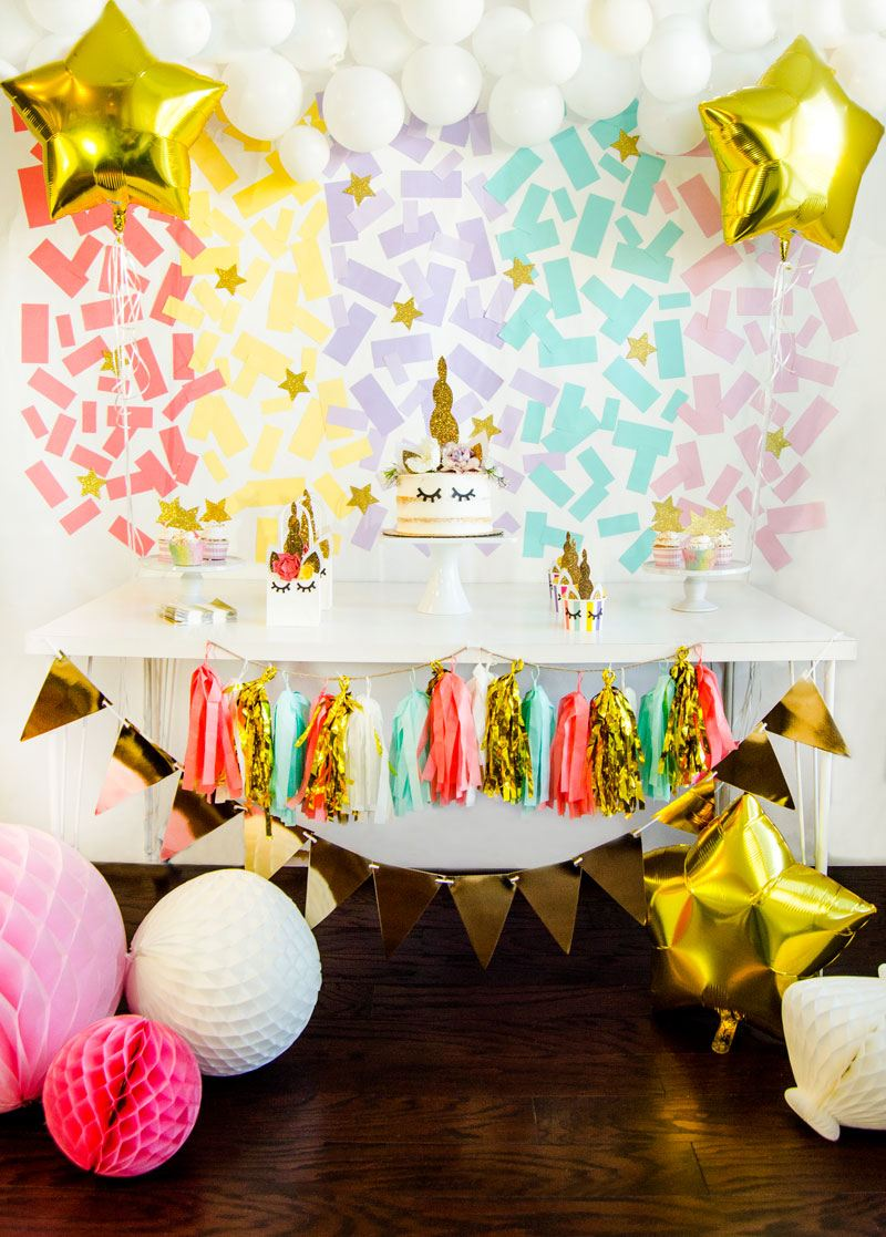 DIY Unicorn Backdrop Tutorial by Lindi Haws of Love The Day