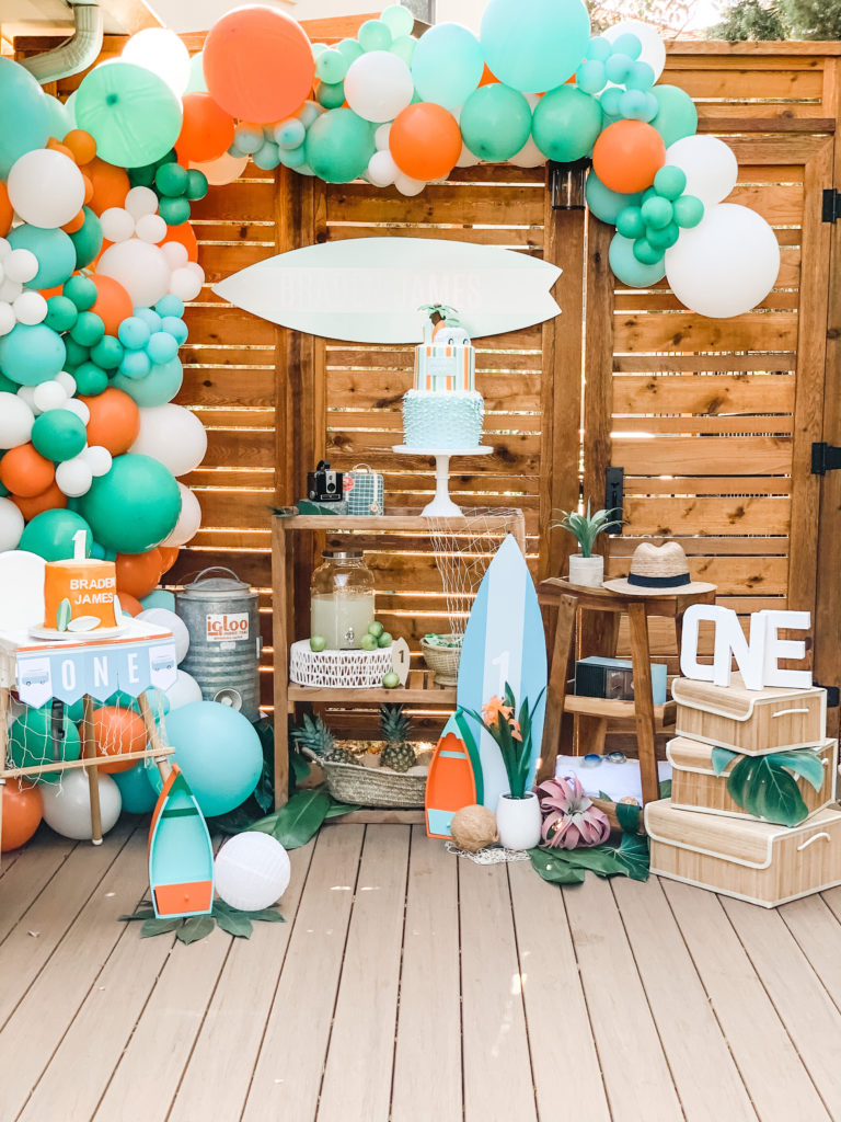 Surf Themed Birthday Party