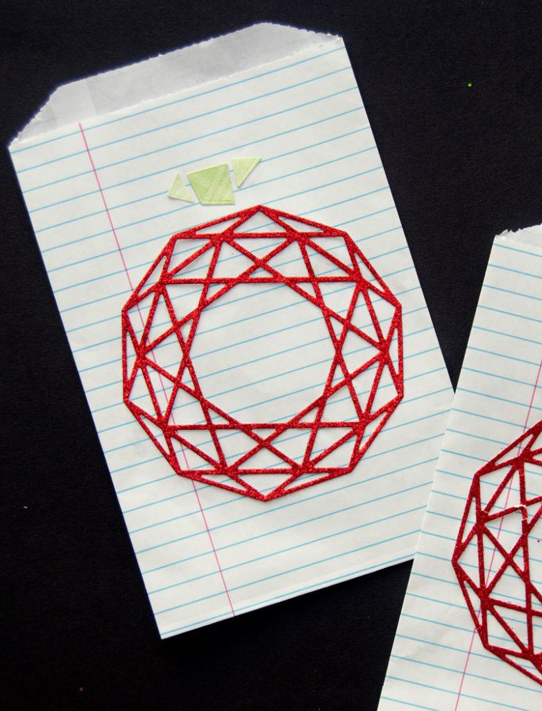 Geometric Apple DIY Gift Bags by Lindi Haws of Love The Day
